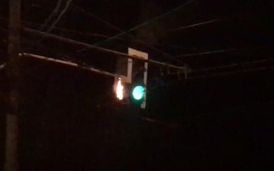 У «Аэропарка» в Брянске вспыхнул светофор