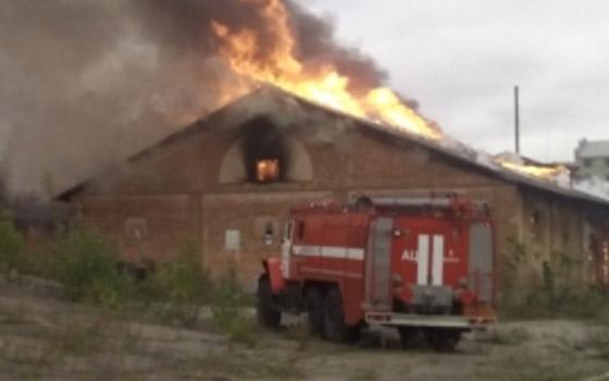На Никитина в Брянске горел склад