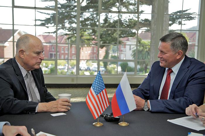 Олег Кувшинников пригласил губернатора Калифорнии в Вологодскую область