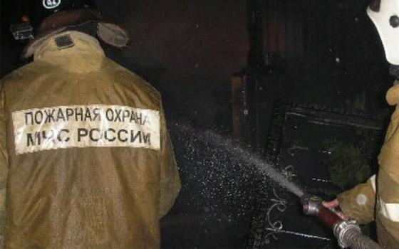 В центре Брянска сгорела частная баня