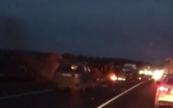 Под Брянском после ДТП загорелась «ГАЗель» – очевидцы