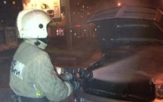 В Брянске сгорела машина