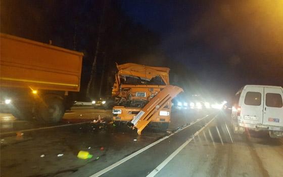 Под Брянском столкнулись два грузовика «Мираторга»