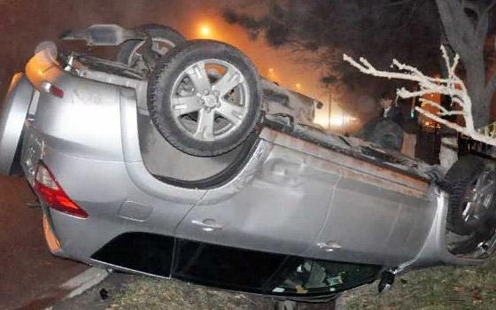 На трассе Брянск – Дятьково перевернулась женщина на Toyota RAV-4