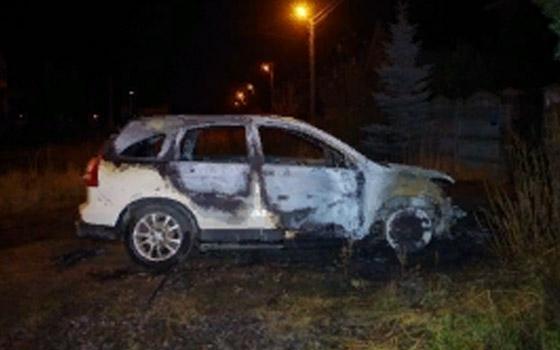 Ночью в Радице-Крыловке сгорела Honda СR-V