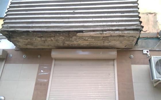 Балкон грозит рухнуть на головы брянцев в центре города