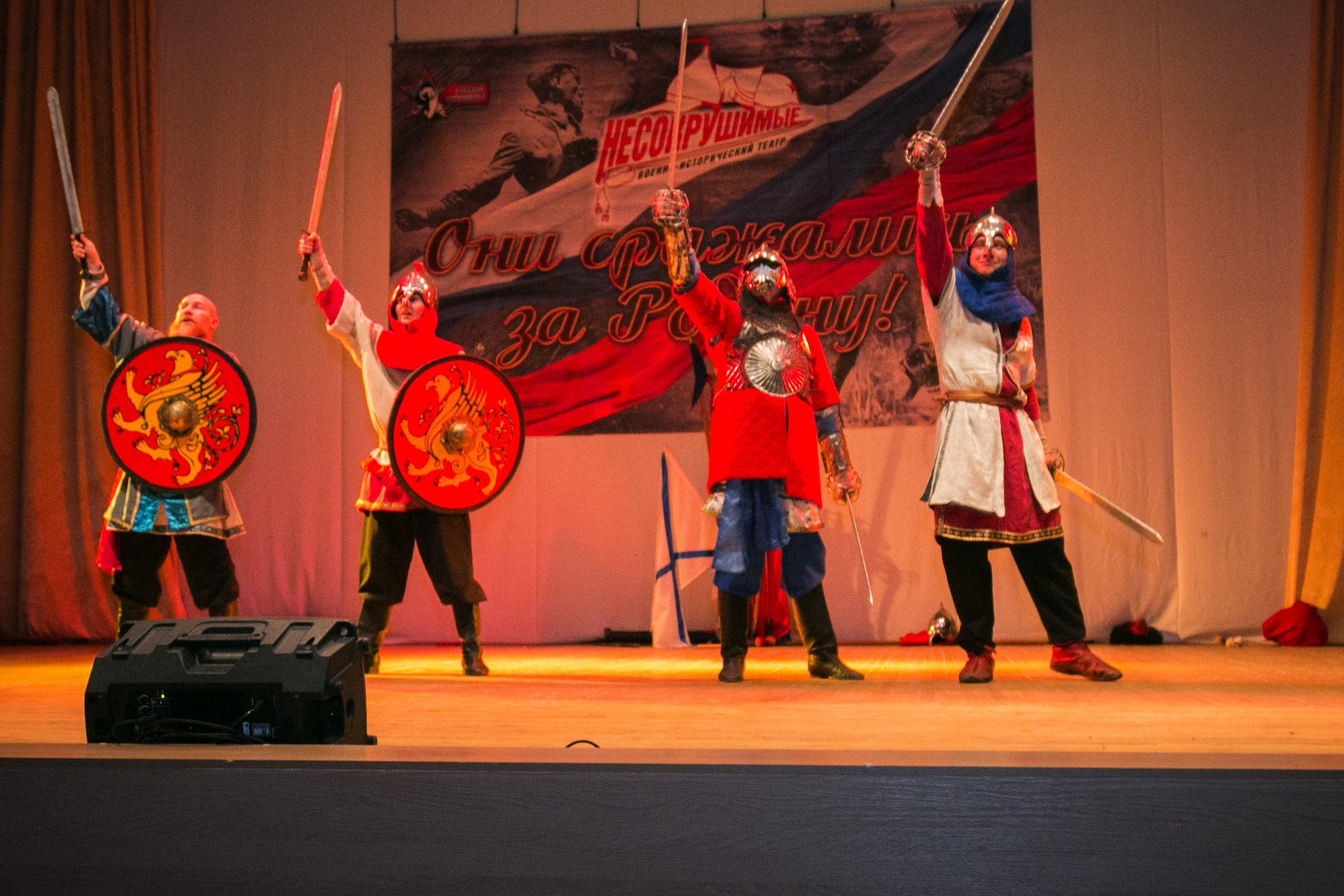 Белгородские юнармейцы стали гостями театрализованного шоу «Они сражались за Родину»*