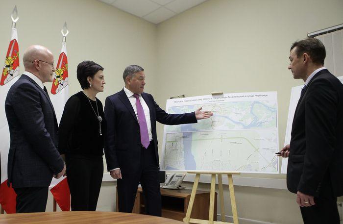 В Череповце при поддержке Министерства транспорта и Росавтодора началось строительство нового моста