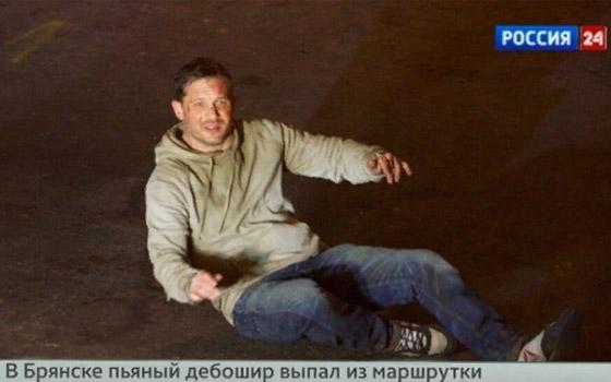 Актер Том Харди «сыграл» дебошира, выпавшего из маршрутки в Брянске